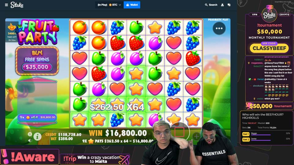 ClassyBeef playing on Twitch at Stake Casino