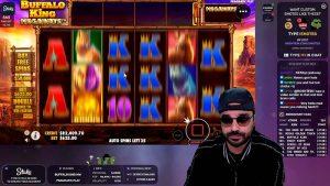 Roshtein playing Buffalo King at Stakes Casino