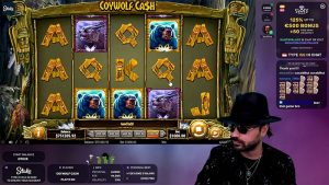 Roshtein playing Coywolf Cash at Stakes Casino